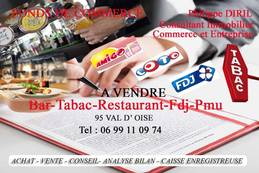 Vente - Bar - Brasserie - Restaurant - Tabac - Presse - Val-d'Oise (95)