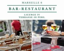 Vente - Bar - Restaurant - Licence IV - Marseille 6ème (13006)