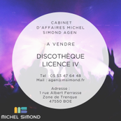 Vente - Bar - Brasserie - Discothèque - Licence IV - Lot-et-Garonne (47)