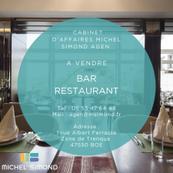 Vente - Bar - Brasserie - Restaurant - Glacier - Licence IV - Dordogne (24)
